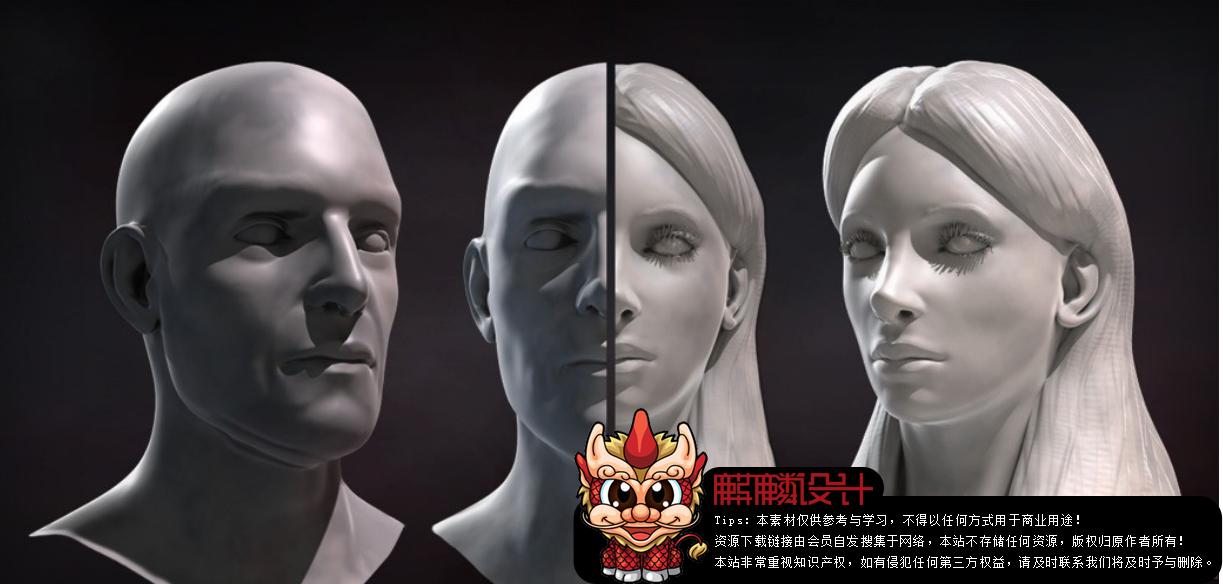 ZBrush面部雕刻艺术训练视频教程_百度网盘