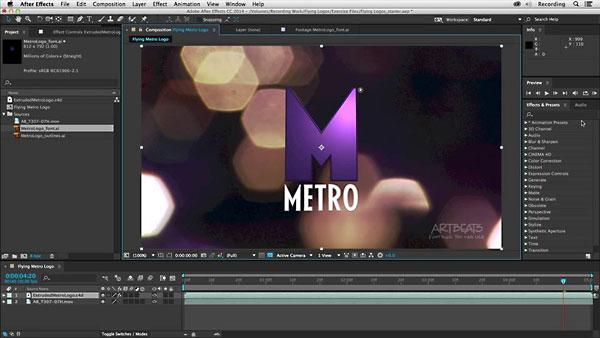 Illustrator和Cinema 4D二维标识创造成三维标志动画教程_百度网盘