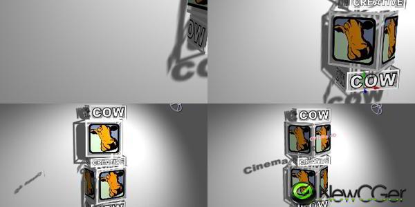 白色背景中仿3D旋转的盒子_百度网盘