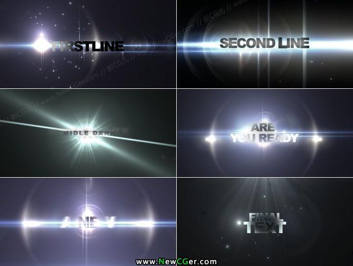震撼光效字幕宣传片头AE模板含音频OF Trailer_百度网盘