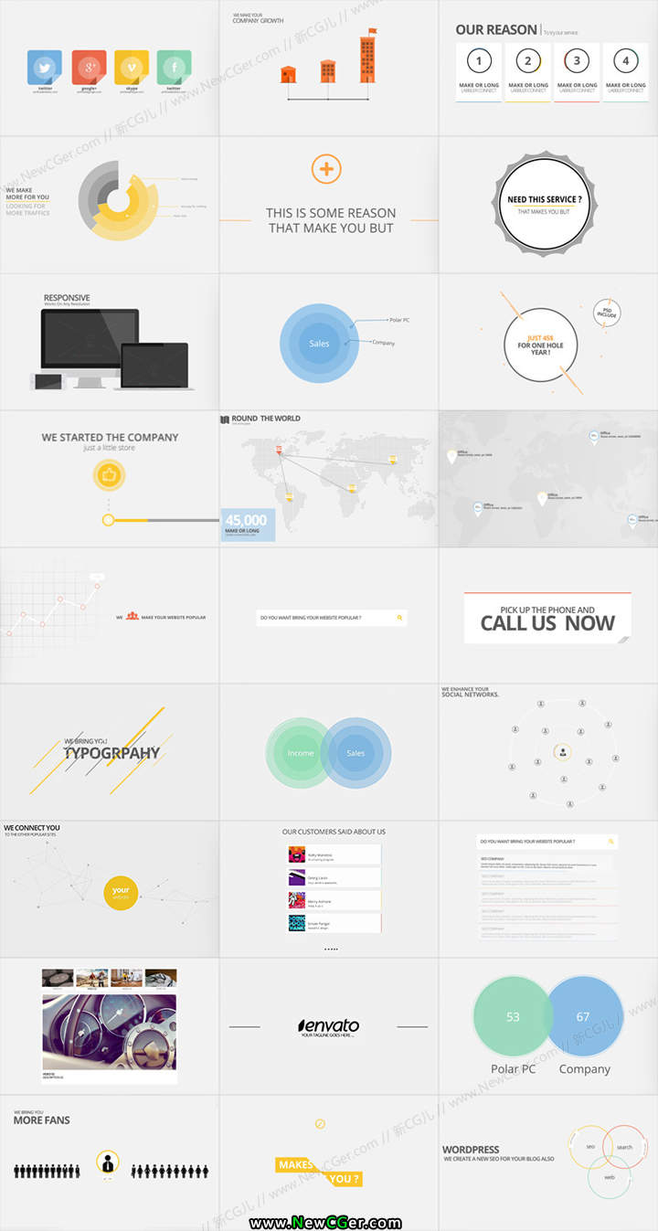 简约流畅的企业商务风MG动画包AE源文件Corporate Typography Pack_百度网盘