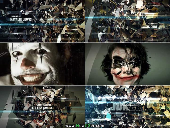 紧张刺激的破碎特效电影预告片AE模板2版入Joker_百度网盘