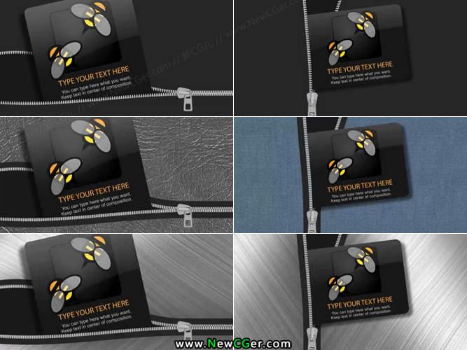 各式拉链拉开的标志展示动画AE工程_百度网盘