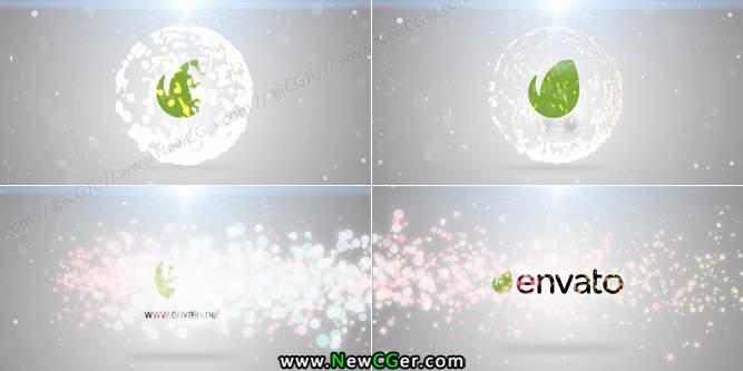 唯美优雅的粒子飞舞logo揭示片头AE模板_百度网盘