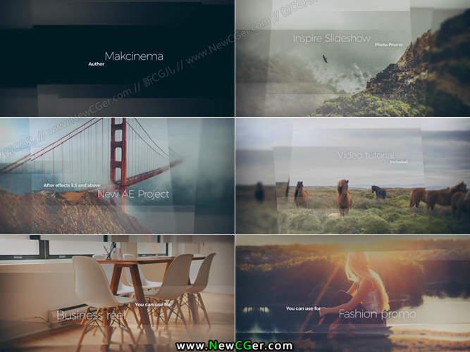 创意优雅的错位全屏内容展示AE工程3版入_百度网盘