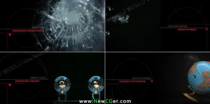 细腻线条主题的字幕与影像内容展示AE工程_百度网盘