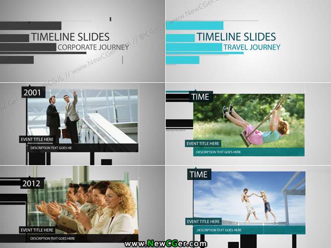 时间线主题的平移式内容展示AE工程2版入_百度网盘