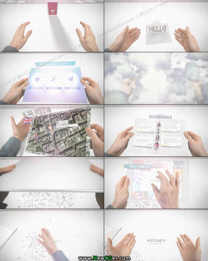 实拍+后期出现在手中的神奇pad企业商务广告AE模板_百度网盘