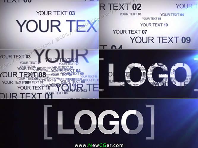 新手学习文字逐渐汇聚成logo标志的AE模板_百度网盘