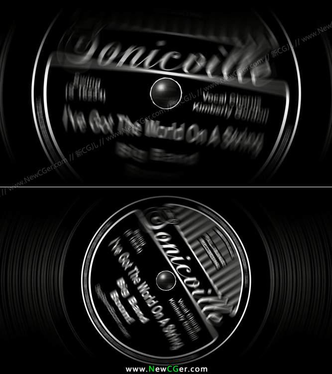 新手学习简单的黑唱片旋转动画AE工程_百度网盘