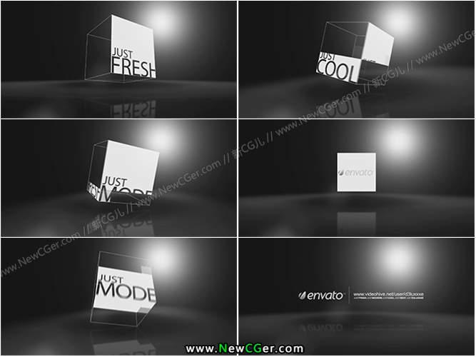 具有高端质感的三维透明方块旋转展示AE工程5色入_百度网盘