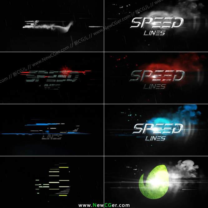 充满速度与激情的极速线条标题特效AE模板_百度网盘