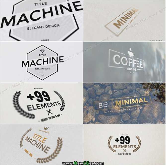 质感简洁字幕标题合集包AE模板_百度网盘