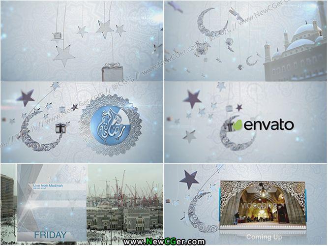异国风情的斋月祷告logo展示合集包AE模板_百度网盘