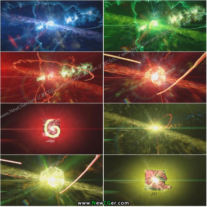震撼宇宙星空粒子logo标题展示AE模板_百度网盘