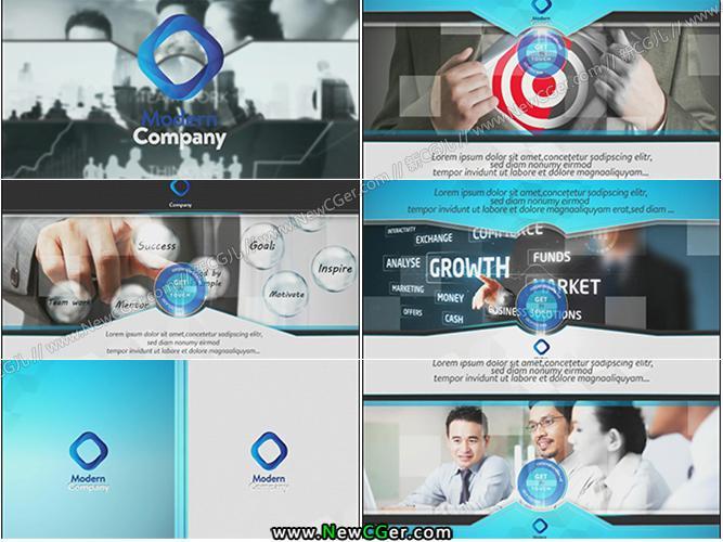 高端大气的商务公司产品推广展示AE模板_百度网盘